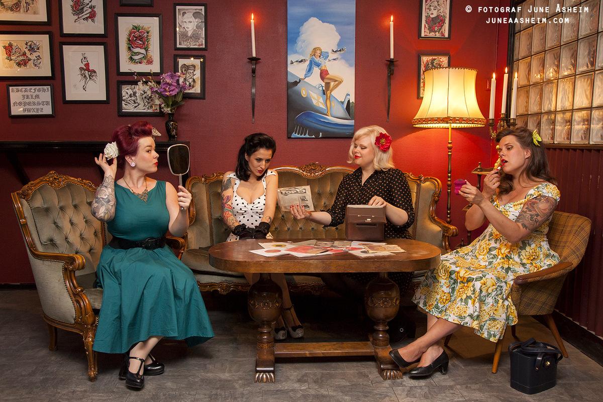 Photographer June Åsheim - Promotion for Petticoats & Polkadots nights at Bastard Bar, and a Burlesque Show/mini festival.