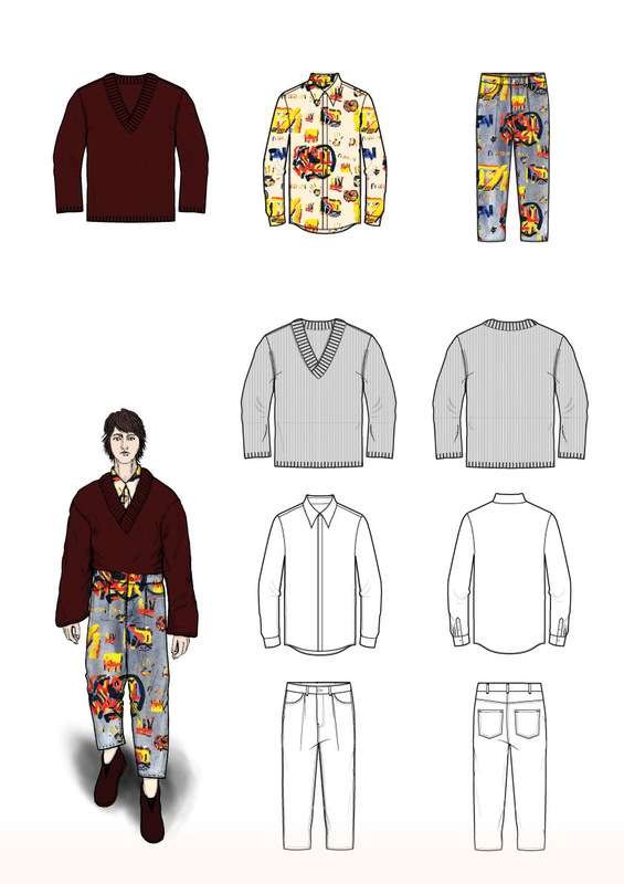 Cecilia Tutti - Third look and flat sketches