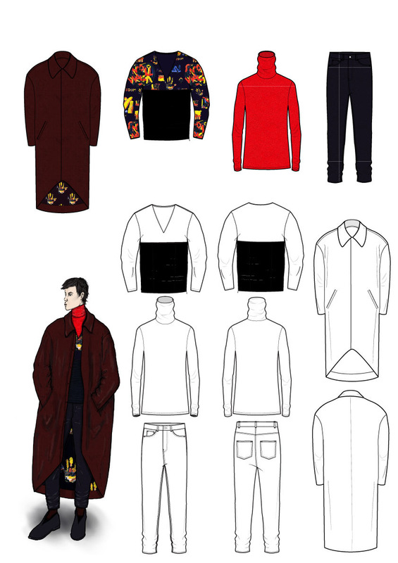 Cecilia Tutti - Fifth look and flat sketches