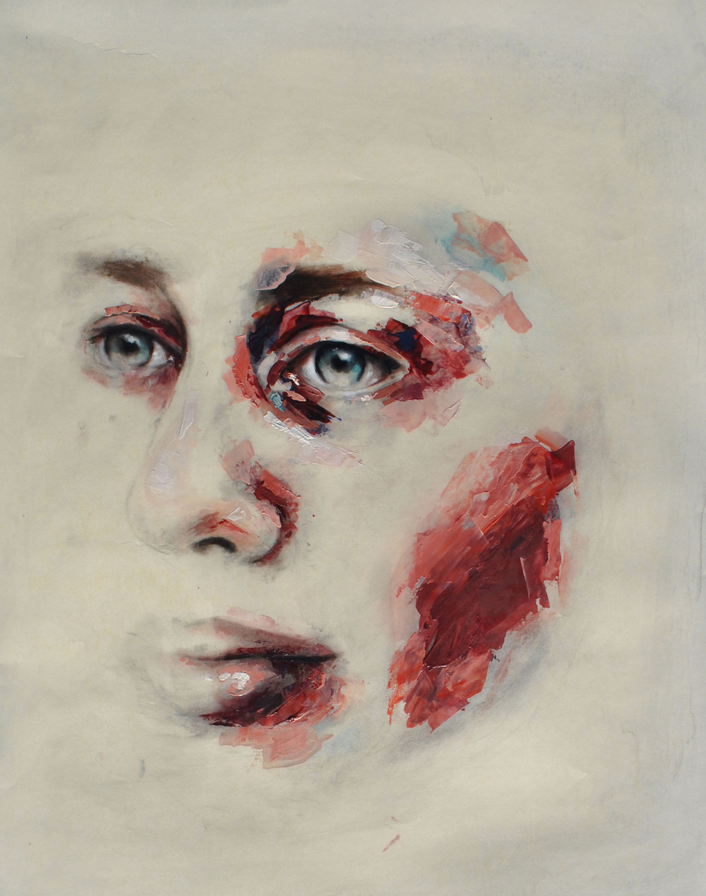 Morag Cullens - * SOLD * Isabel on paper, Oil on paper.