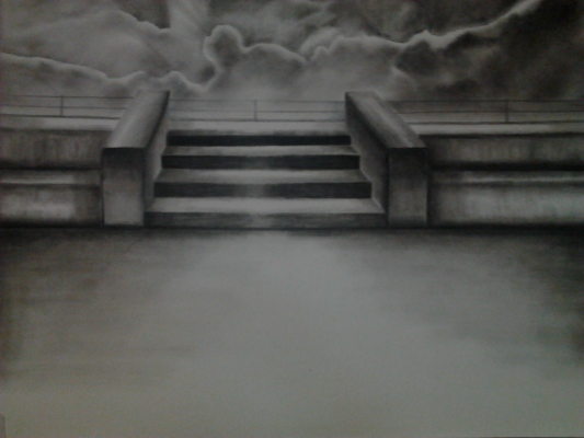 look for me_gha - Charcoal drawing_30x40cms.