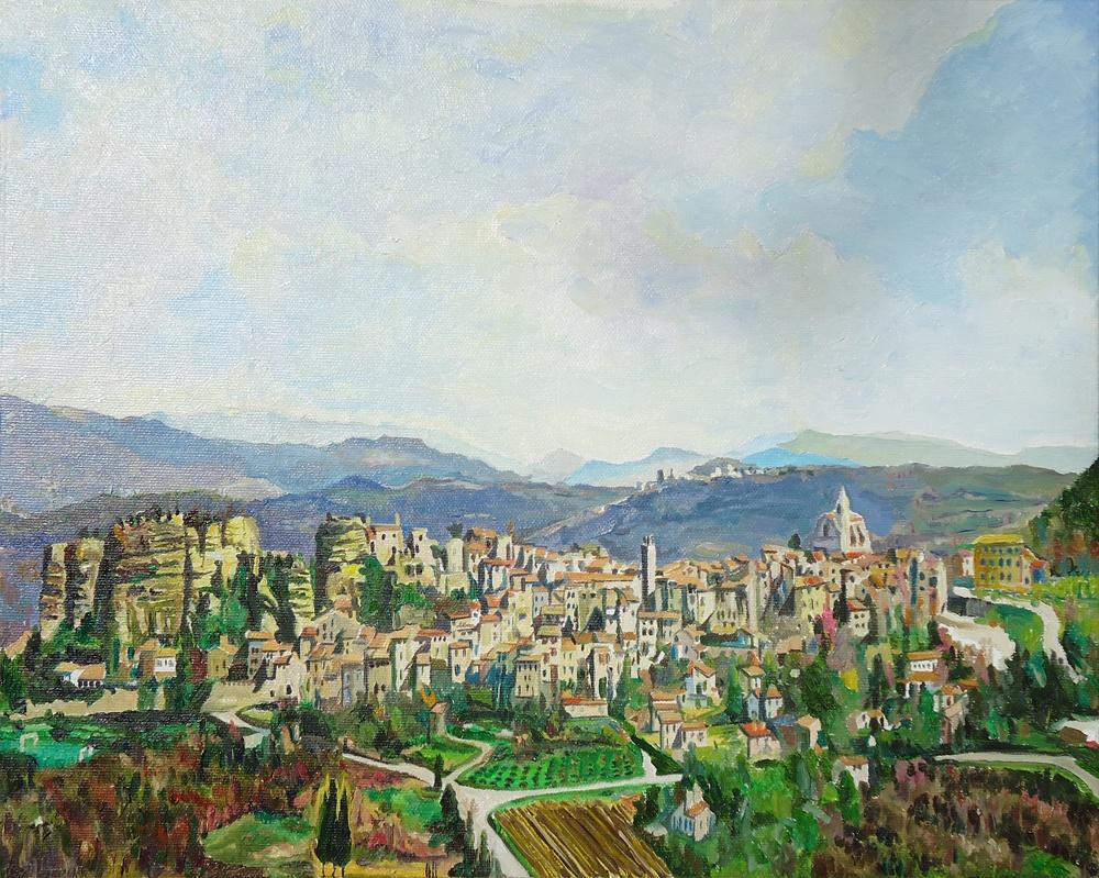 Timothy Adam Matthews - Saignon, Provence (Early Spring) - 33x41cm