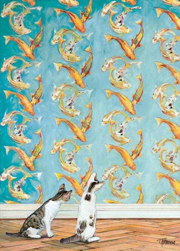 Timothy Adam Matthews - Curious Kittens - 50x70cm