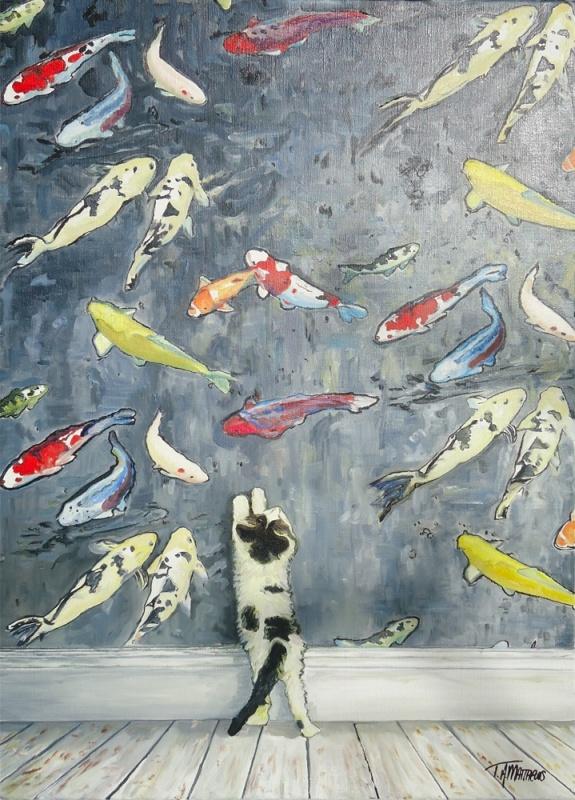 Timothy Adam Matthews - Curious Kittens 2 - 50x70cm