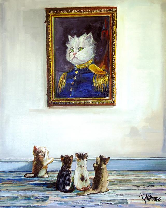 Timothy Adam Matthews - Portrait of Admiral Kitty - 40x50cm