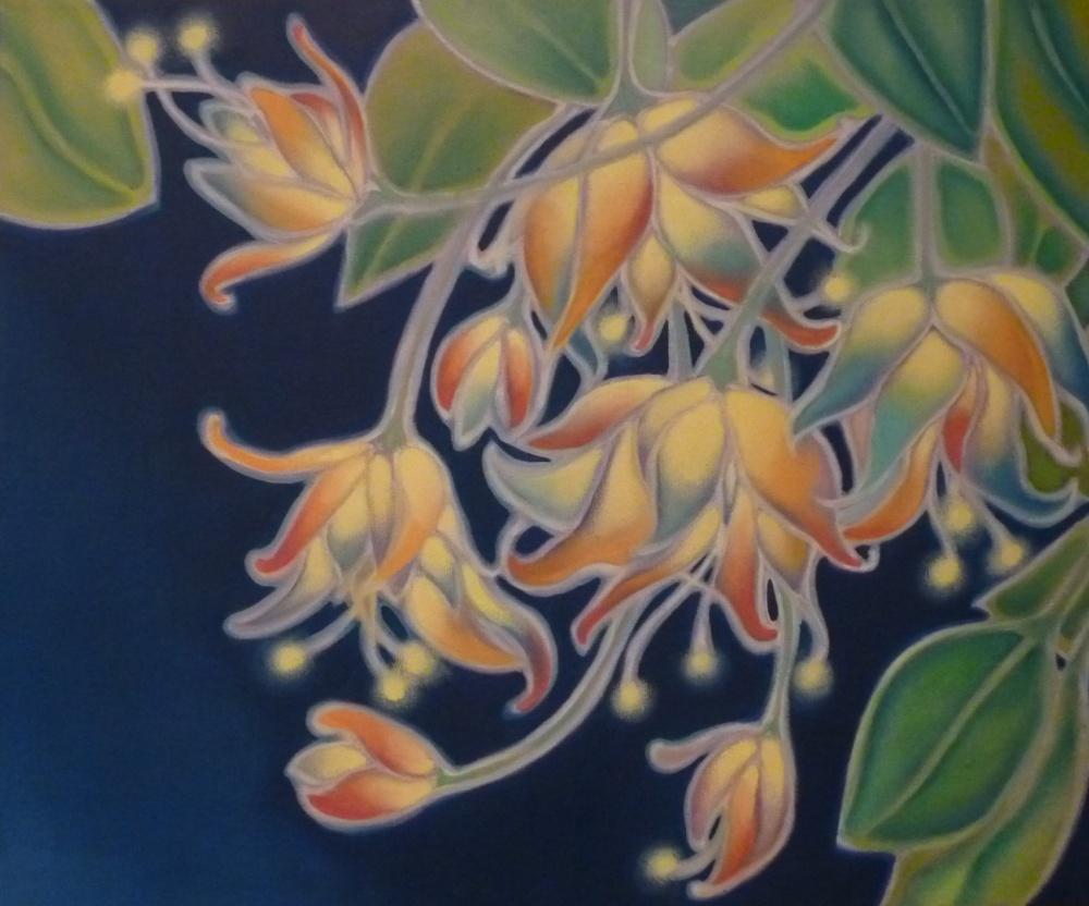 ida romiti - fiori di luce. olio su tela. 50X60