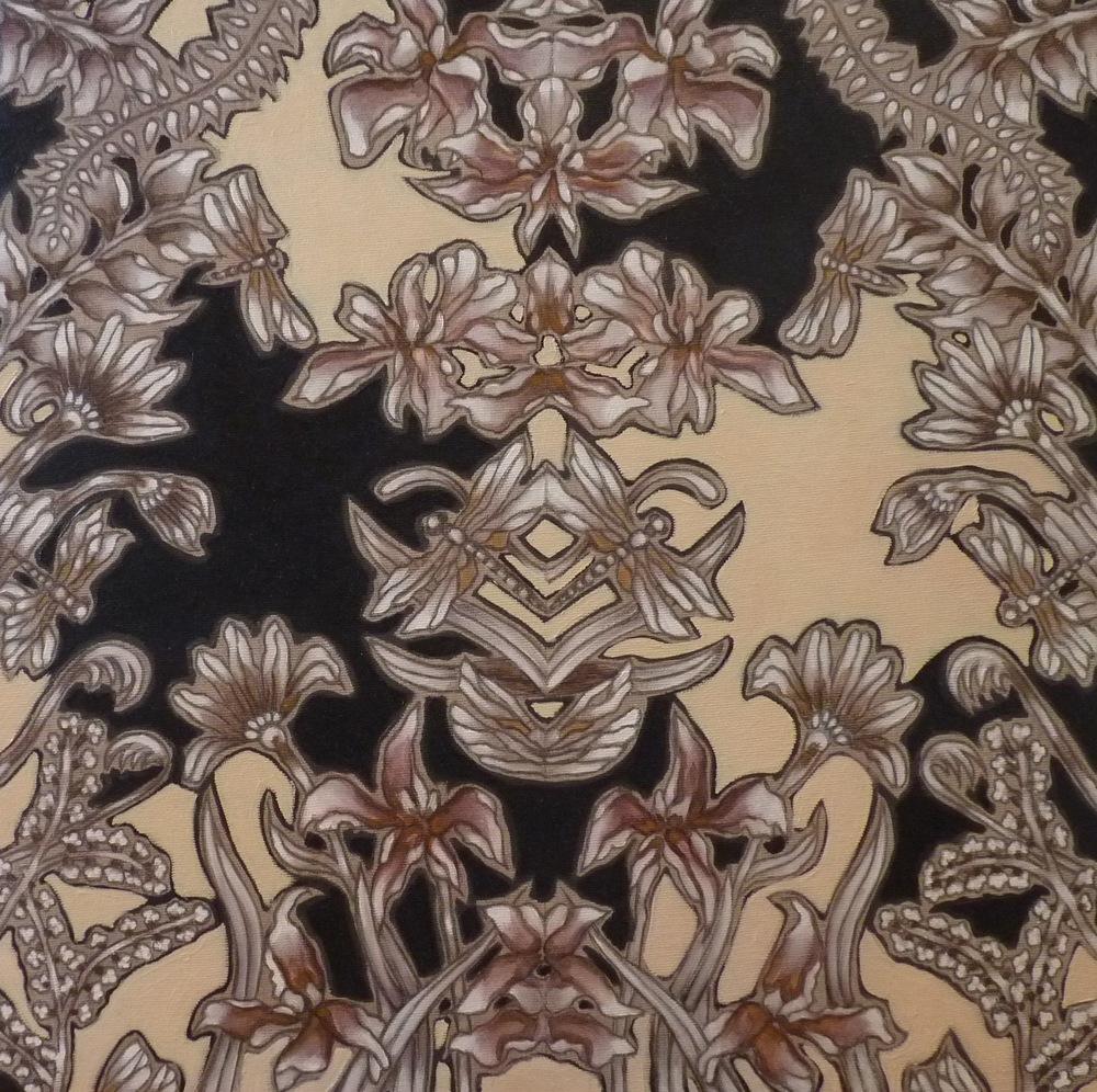 ida romiti - dolci invasioni. olio e grafite su tela. 2016 50x50