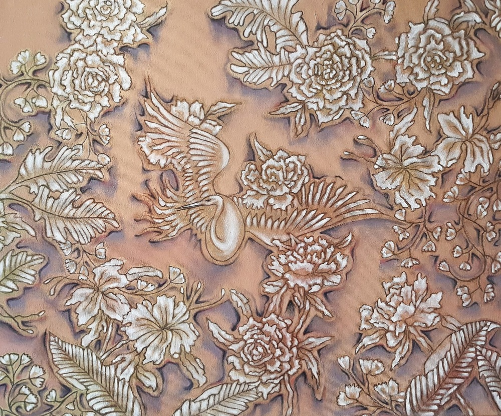 ida romiti - candida. olio e grafite su tela.2018 50x60