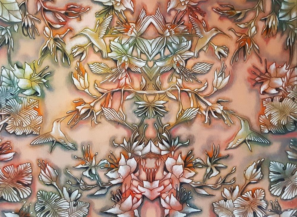 ida romiti - vibrazioni. olio e grafite su tela. 2017 60x80