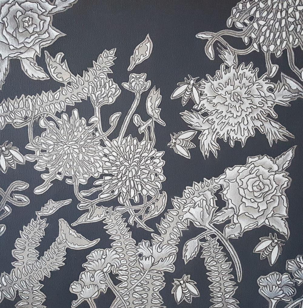 ida romiti - indecisioni. olio e grafite su tela.2015 50x50