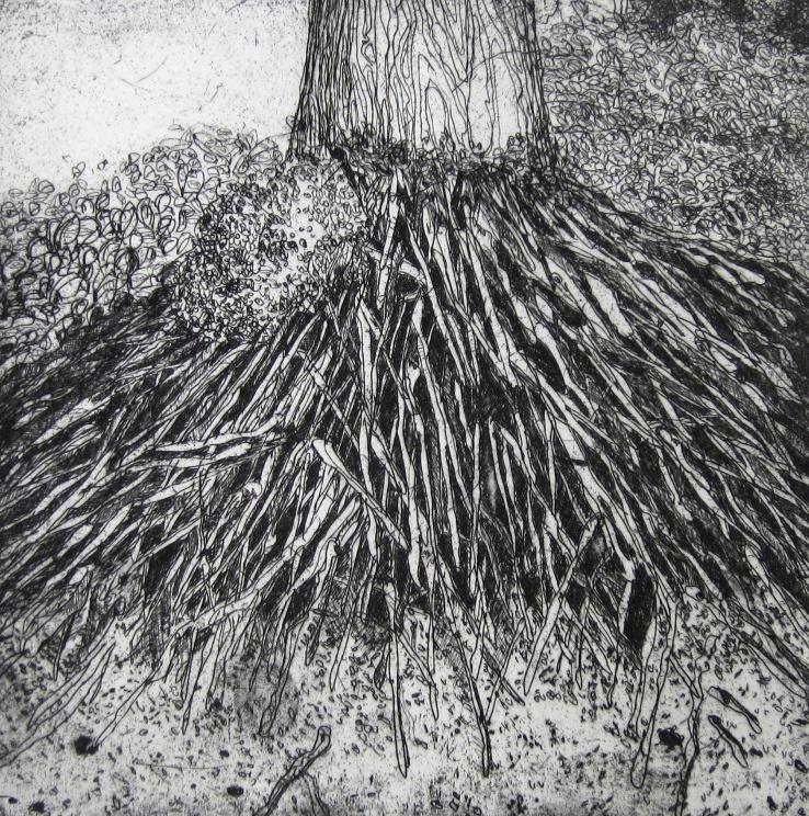 DIANA DAYMOND ART AND DESIGN - PALM ROOTS