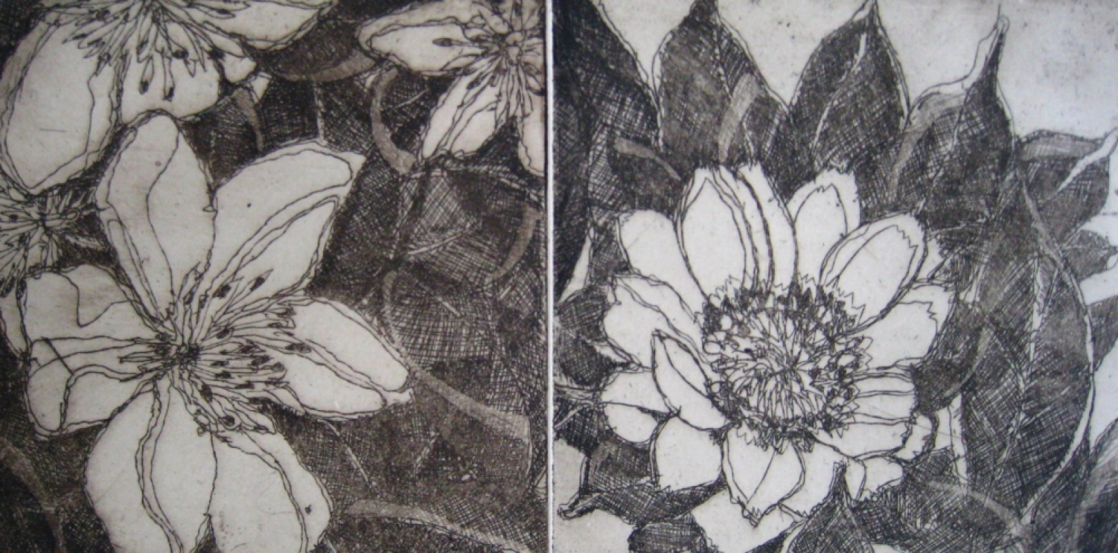 DIANA DAYMOND ART AND DESIGN - FLOWERS TWO