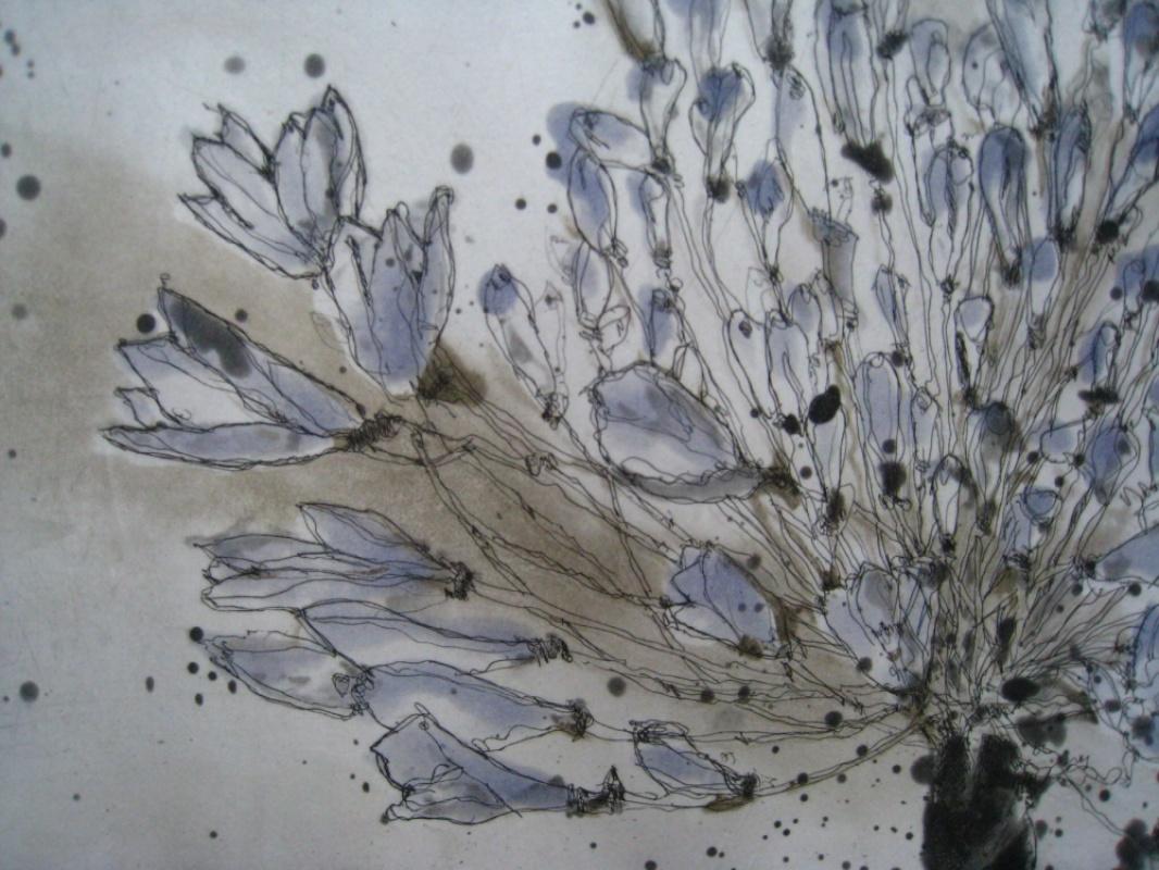 DIANA DAYMOND ART AND DESIGN - BLUE AGAPANTHUS