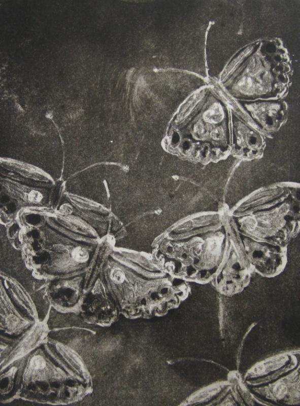 DIANA DAYMOND ART AND DESIGN - BLACK BUTTERFLIES