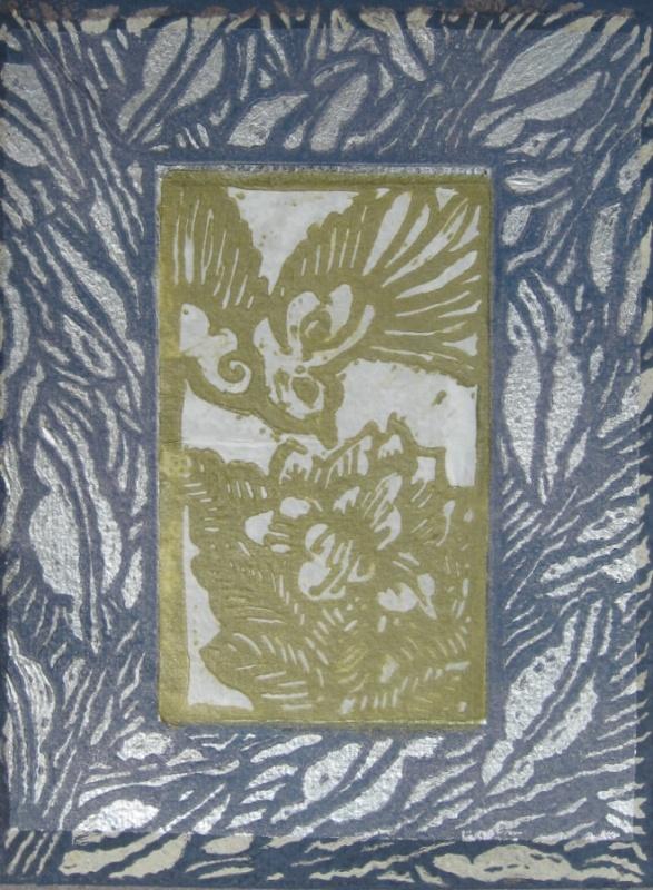 DIANA DAYMOND ART AND DESIGN - CUT HUNGRY BIRD BLUE