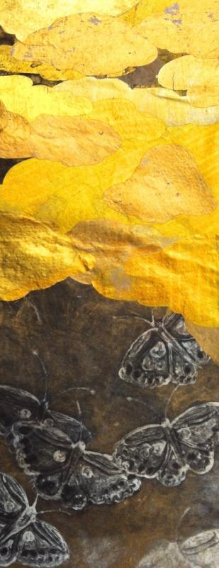 DIANA DAYMOND ART AND DESIGN - GOLDEN BUTTERFLIES TWO