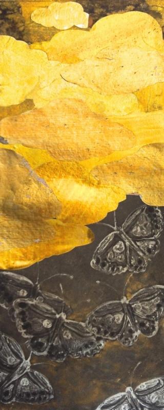 DIANA DAYMOND ART AND DESIGN - GOLDEN BUTTERFLIES ONE