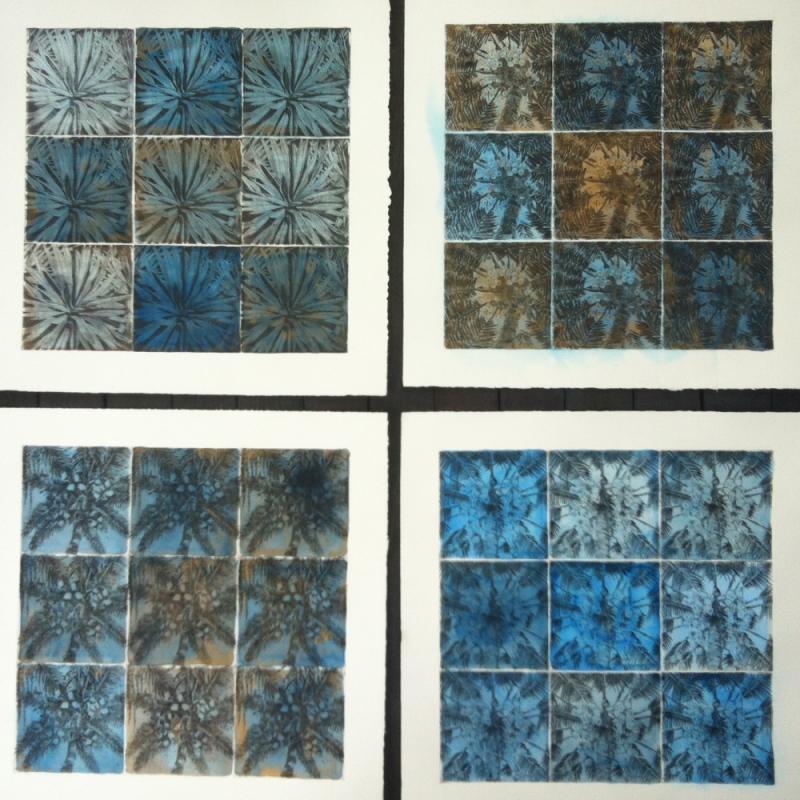 DIANA DAYMOND ART AND DESIGN - THIRTY SIX PALMS: BLUE