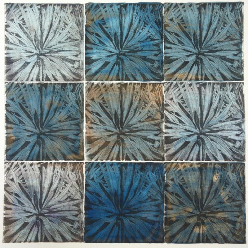 DIANA DAYMOND ART AND DESIGN - NINE PALMS BLUE