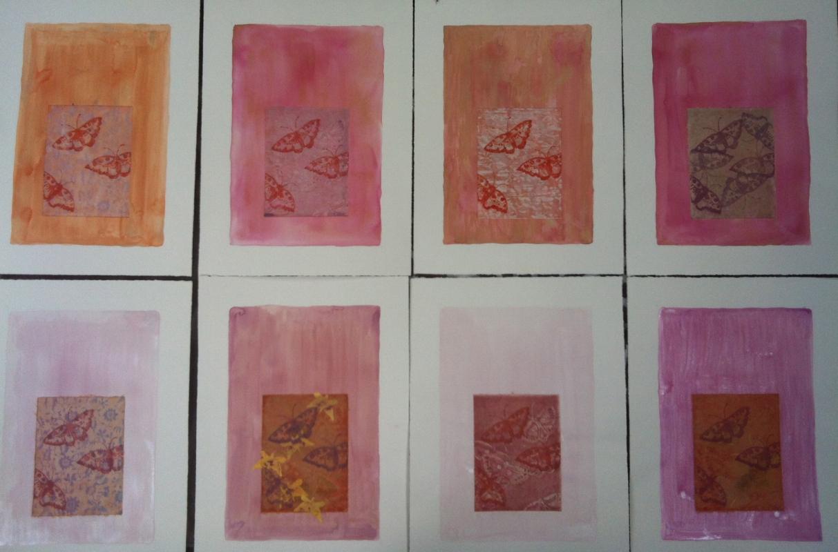 DIANA DAYMOND ART AND DESIGN - PERANAKAN BATIK BUTTERFLIES SET