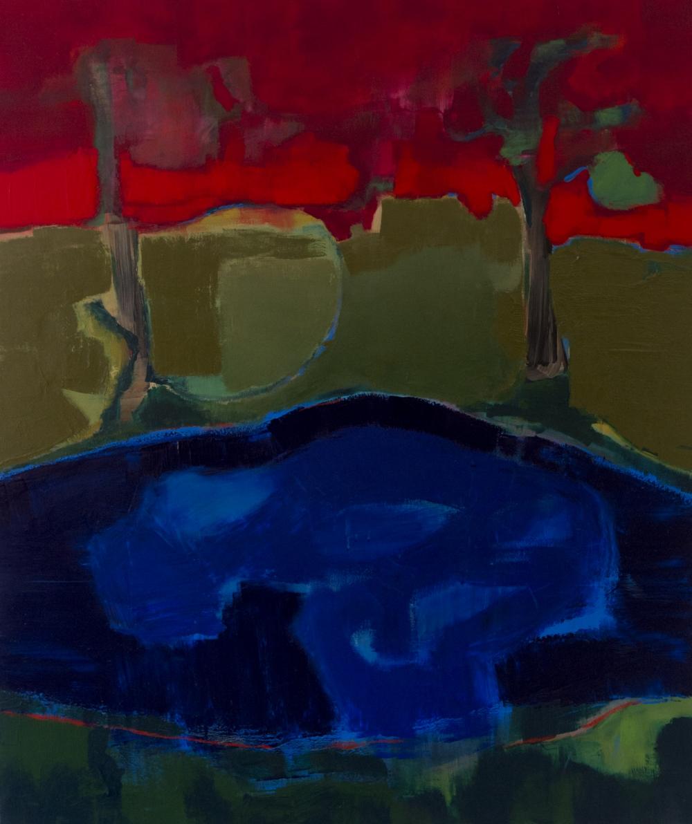 augusty - small lake, acrylic 120/100 cm