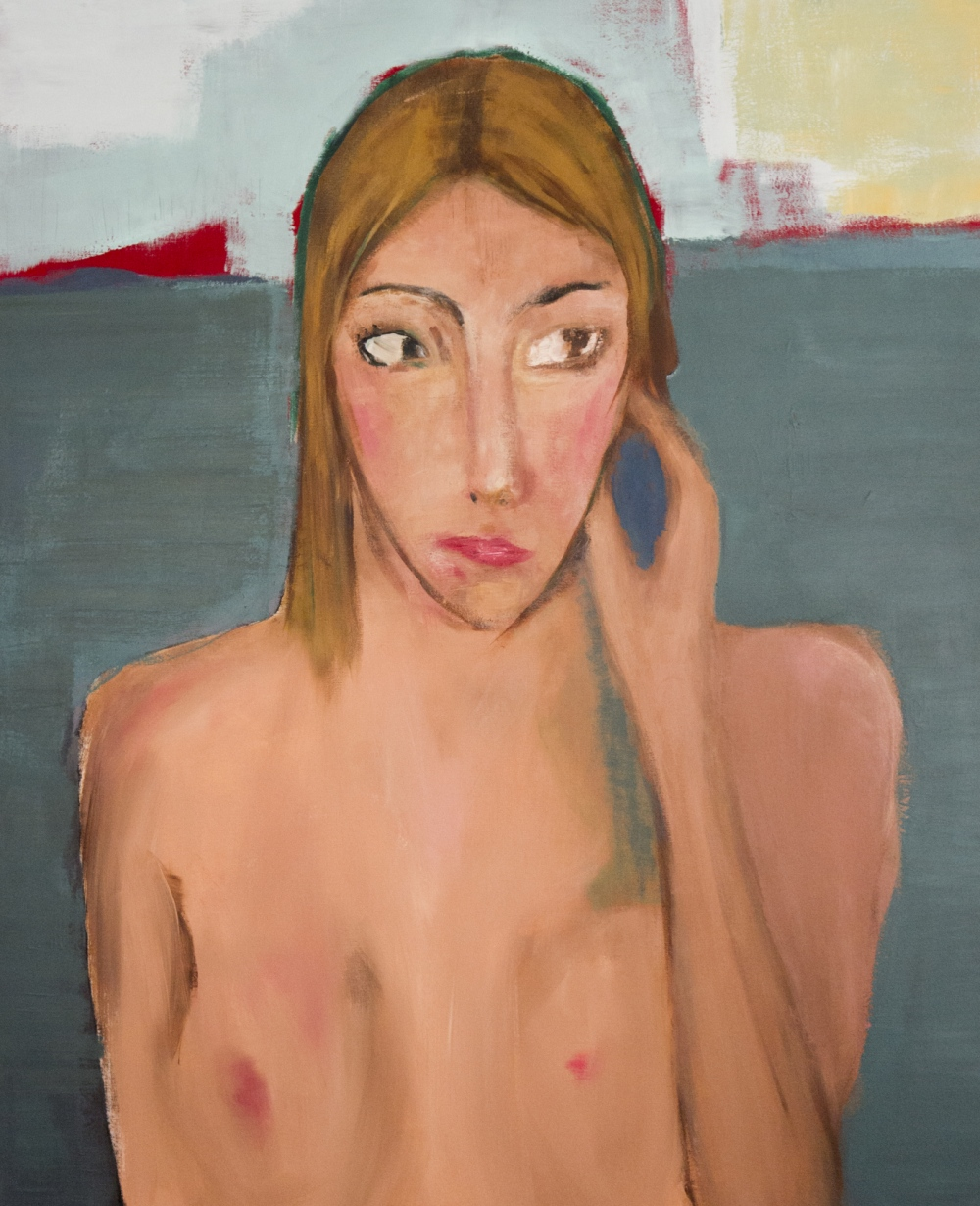 augusty - Nude on the beach, acrylics 100/80 cm