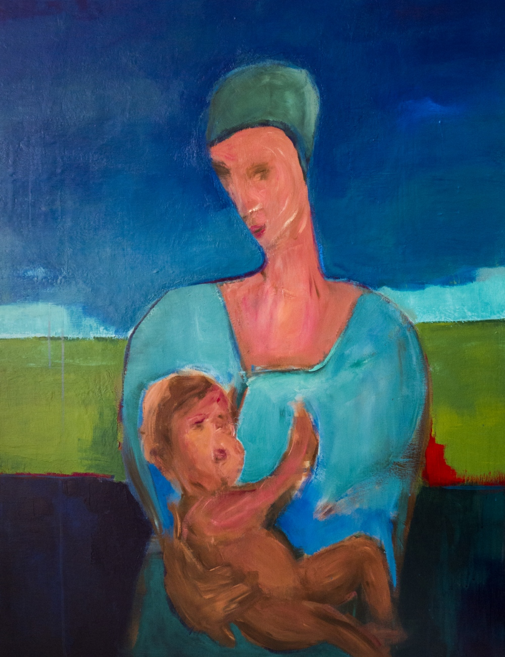 augusty - Madonna with child, acrylics 116/89 cm