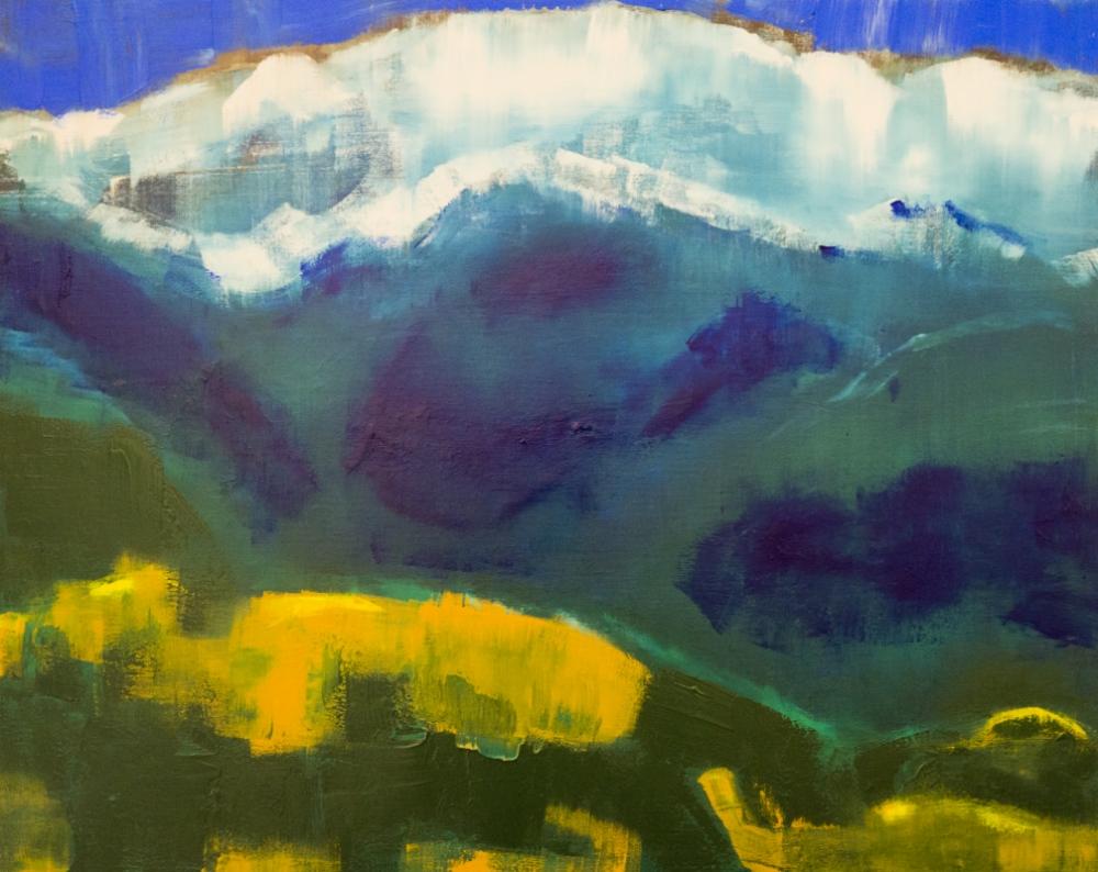 augusty - Rajs Nepal,acrylics 65/81 cm
