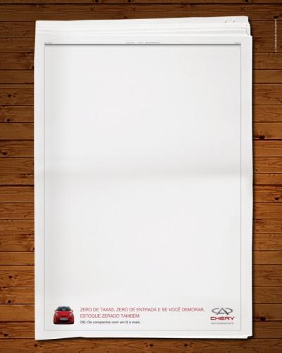 Advertising and Designer - Proposta anuncio Chery