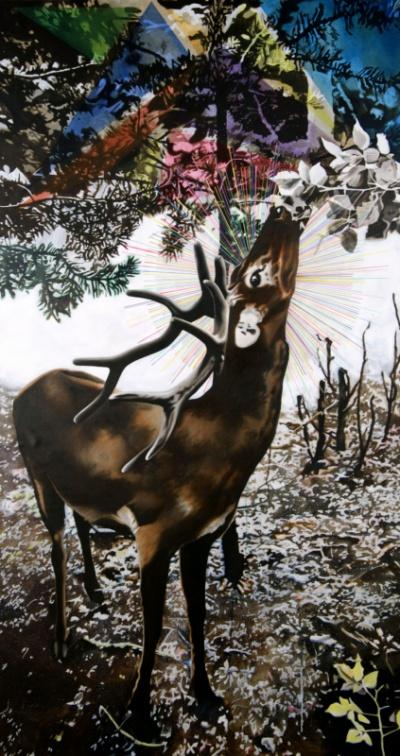 Agata Kleczkowska - painting // malarstwo - Oil and acrylic on canvas, 200x107