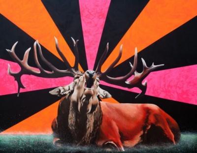 Agata Kleczkowska - painting // malarstwo - Oil and acrylic on canvas, 140x180