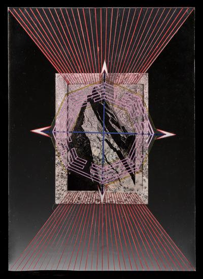 Agata Kleczkowska - painting // malarstwo - Collage on mirror, 42 x 29,7, 2014