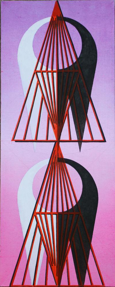 Agata Kleczkowska - painting // malarstwo - Oil on canvas, 50x20
