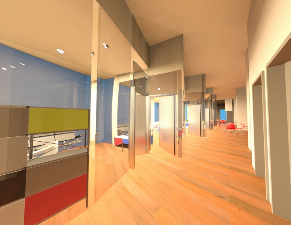 Kiratsuda Chirathivat Interior Design - Hallway to Office Area
