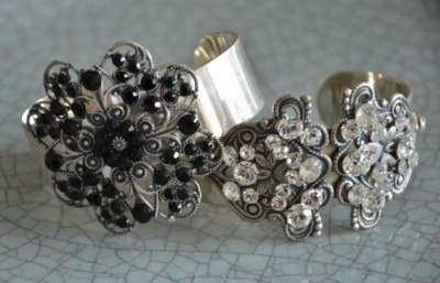 Curvaceous Design Portfolio - Curvaceous Design cuffs detailed with Swarovski Elements