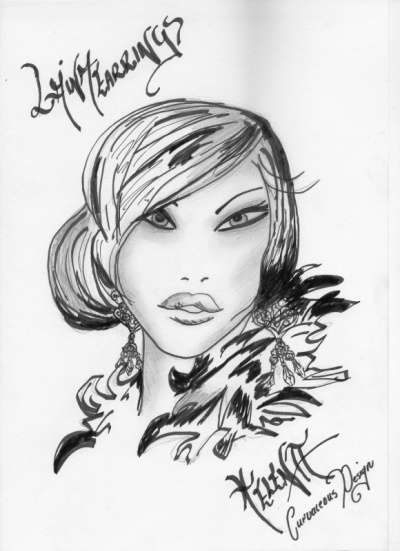 Curvaceous Design Portfolio - Concept sketch from Curvaceous Design of Laina earrings.
