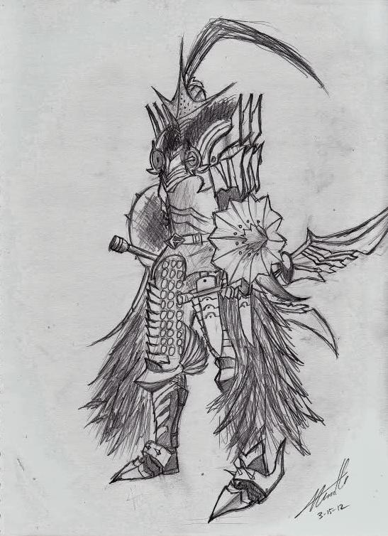 Honor Guard - 3/15/2012 Medium: Pencil on Paper