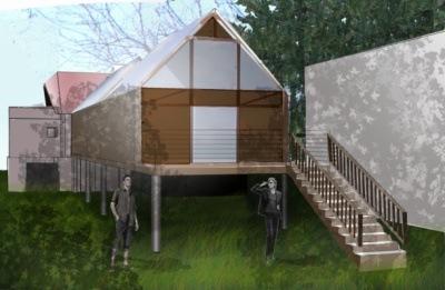 Cycled, architecture et intérieur design - Extension de maison des années 1930 Nogent sur Marne 2002