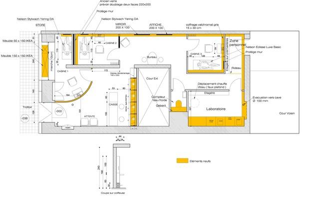 Cycled, architecture et intérieur design - Phase Esquisse