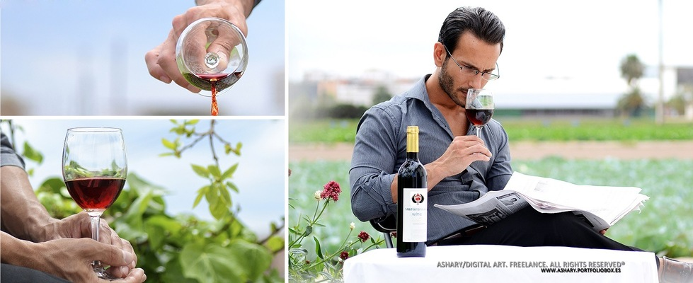 DiegoMartinezSanchez - Campaña vinos Ashary / Arte Digital