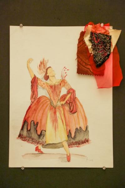 Ariel Wang - Four Elements Baroque Dance Costume-Fire