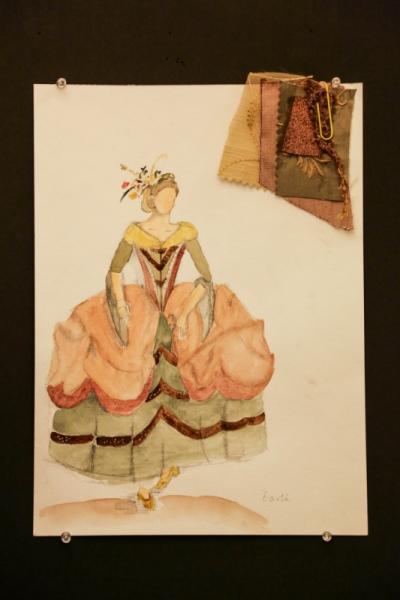 Ariel Wang - Four Elements Baroque Dance Costume-Earth
