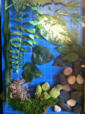 Brendan Kuletz - Materials: variety of Moss Silk leaves.