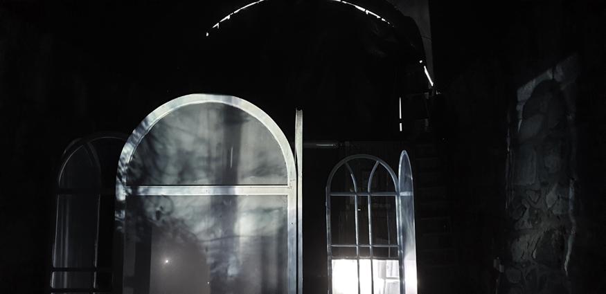 Katarina Elvira Gudrunsdotter - Site-specific installation, and the wise women unfolded the light within, Bergrummet, Konstepidemin, 13Festivalen, Sweden, 2020, Photo: Åsa Herrgård