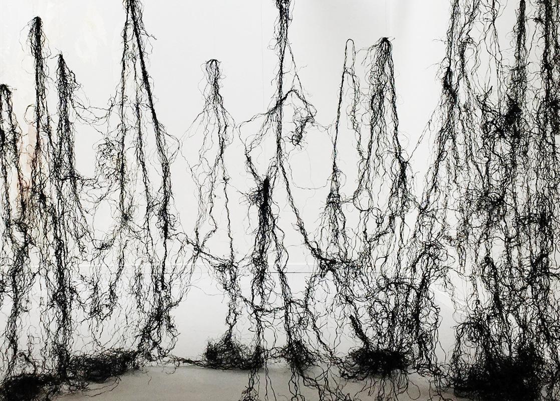 Katarina Bramer - Take me home, (strings washed up on the Swedish west coast), Masters Degree Show, Edinburgh College of Art, University of Edinburgh, 2017