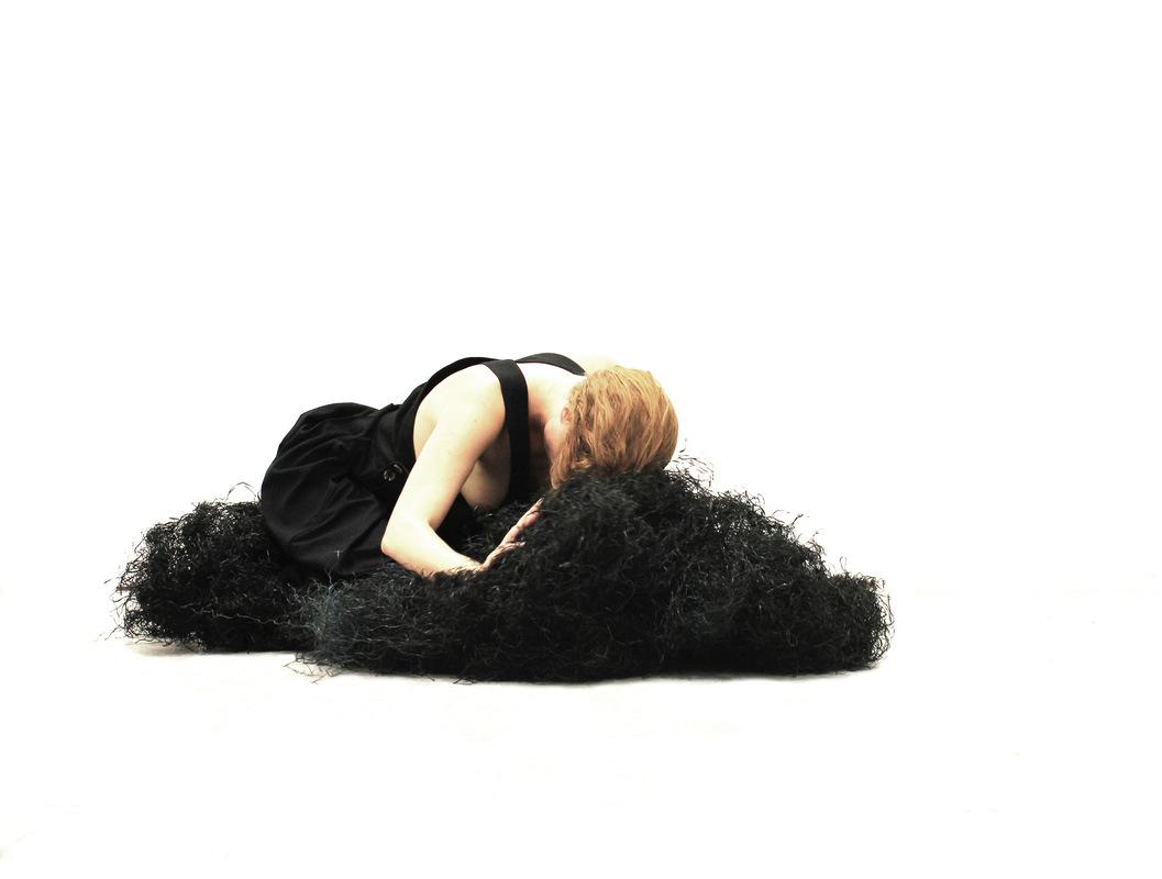 Katarina Elvira Gudrunsdotter - Solo Exhibition, Installation, To love and to cherish, photo, MUU Gallery, Helsinki, Finland, 2019, artist collaboration with Margaux Bricler, ViaFarini, Milan, 2018