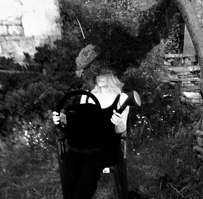 Katarina Elvira Gudrunsdotter - Photo, AiR, Caylus, medieval village, France, 2018 Photo: Edita Kaderic