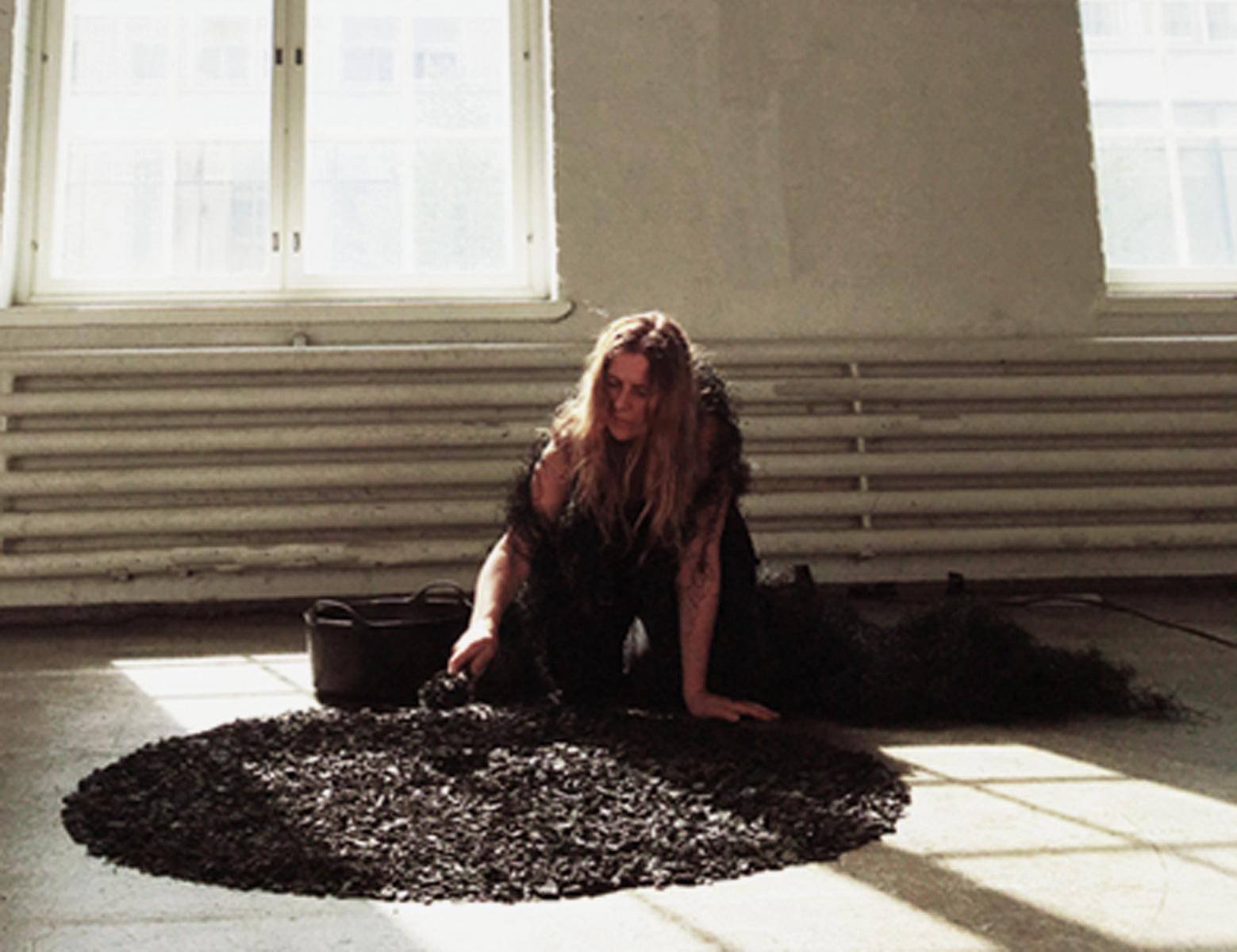 Katarina Elvira Gudrunsdotter - The Gardener, Performance, Day 3, Art Fair Suomi 2019, Cable Factory, Helsinki, Guest Artist Galleri Konstepidemin