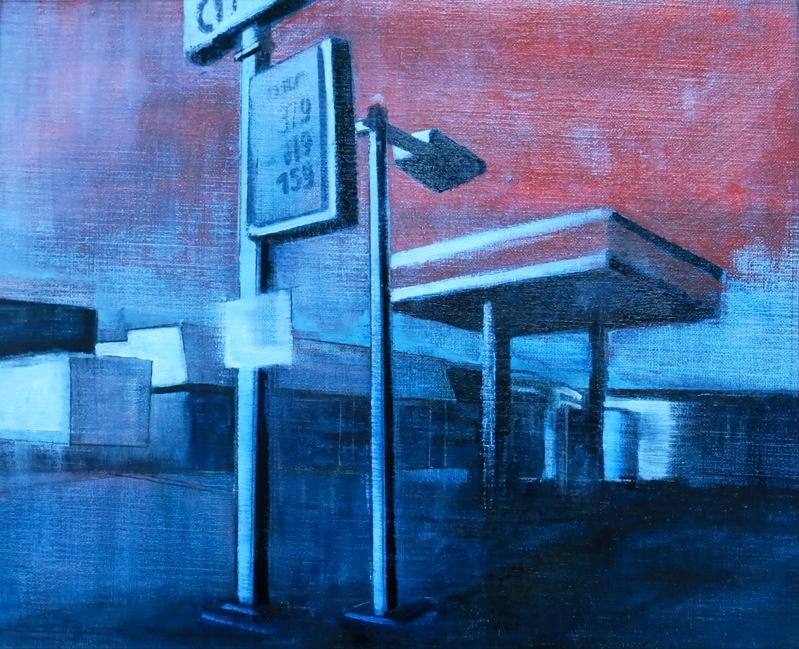 // Bruno Truyts // visual artist // - Gas station Brooklyn NY - 40 X 50 cm - Acryl & oil on canvas - 2013