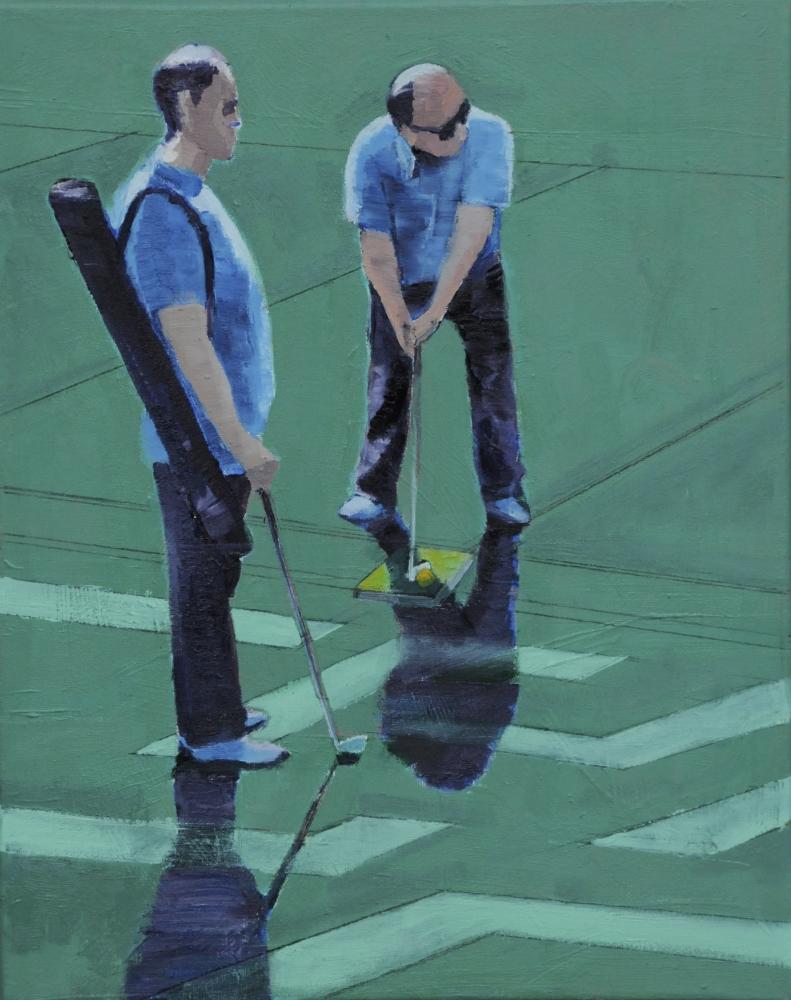 // Bruno Truyts // visual artist // - Urban golf - 40 X 50 cm - Acryl & oil on canvas - 2012